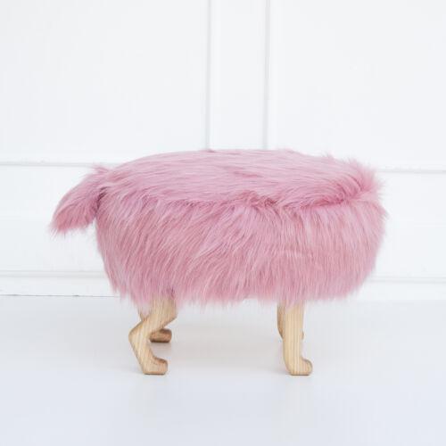 Szőrmés puff, rózsaszín (Siller baby)
