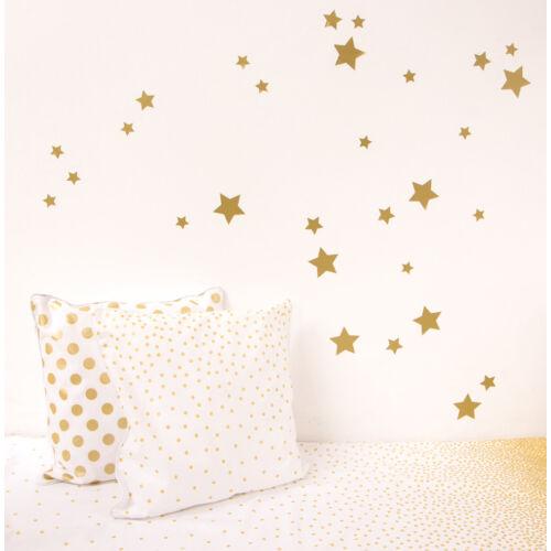 Arany csillagos falmatricák, babyberry