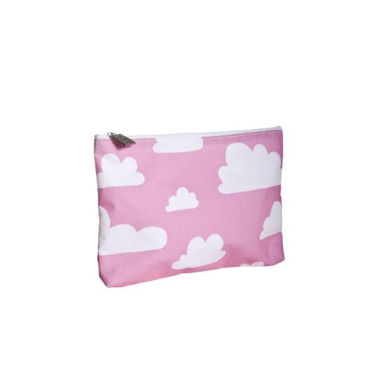 Rózsaszín felhős zipzáros tároló / neszesszer, Farg&Form