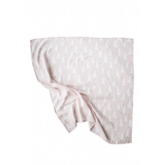 Púder rózsaszín-fehér fenyőfás vékony takaró, Fine Little Day
