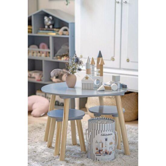 JaBaDaBaDo szürke gyerek asztal és kis székek