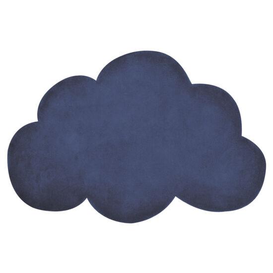 sötétkék felhő alakú gyerekszőnyeg