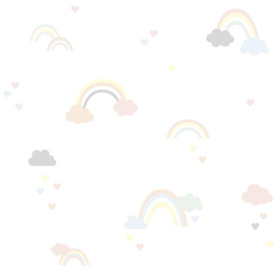 Szivárványos és felhős tapéta gyerekszobába, Lilipinso