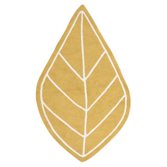 Levél alakú szőnyeg - mustár sárga, Lilipinso