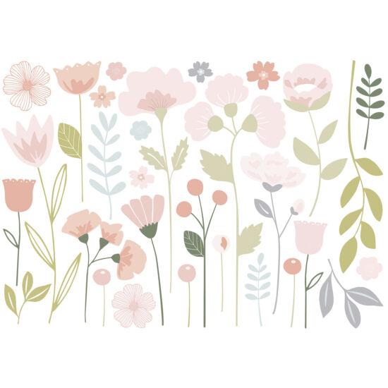 """Virágok"" nagy méretű falmatrica, Lilipinso"
