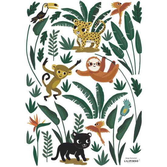 """Dzsungel állatai"" falmatrica, Lilipinso"