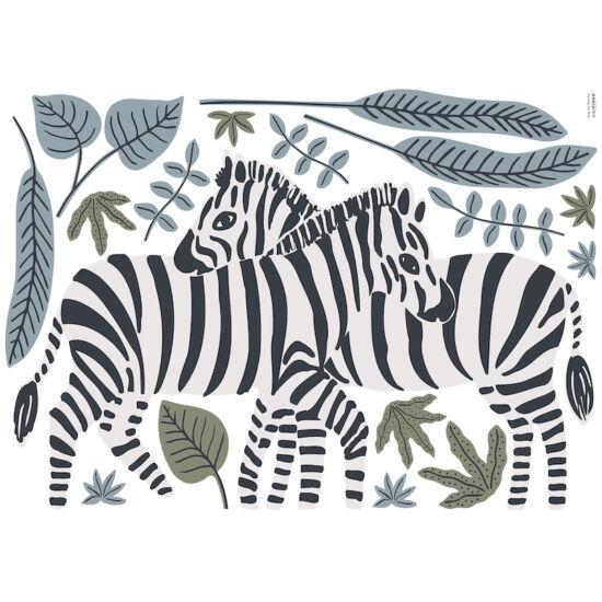 zebrák nagy méretű falmatrica