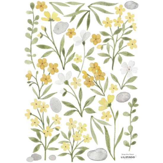sárga virágok falmatrica