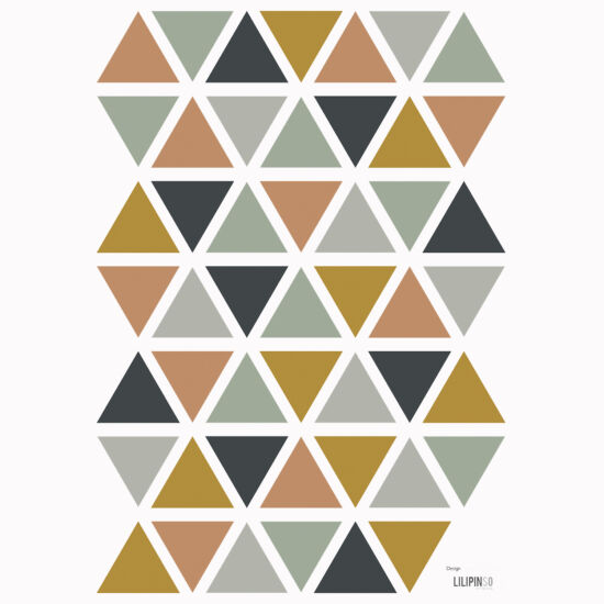 """""""Háromszögek"""" falmatrica, földszínek, Lilipinso"""