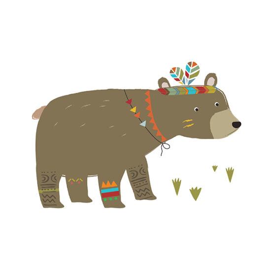 """""""Indián medve"""" nagy méretű falmatrica, Lilipinso"""