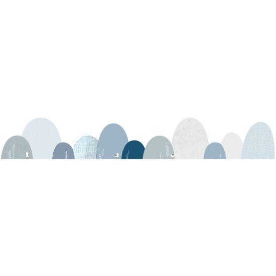 """""""Kék hegyek madárkákkal"""" nagy méretű falmatrica, Lilipinso"""