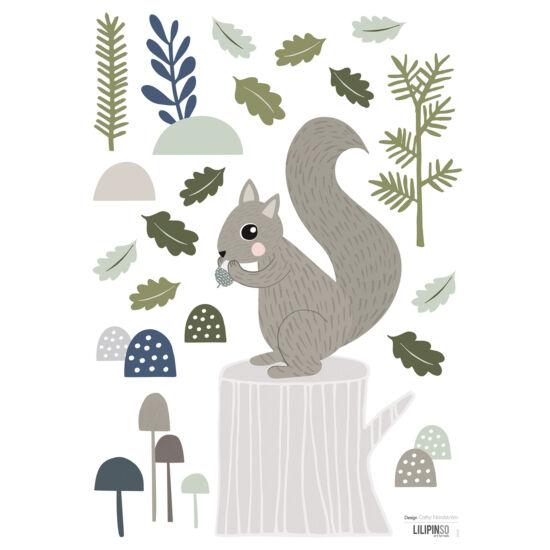 Mókus az erdőben / falmatrica, Lilipinso