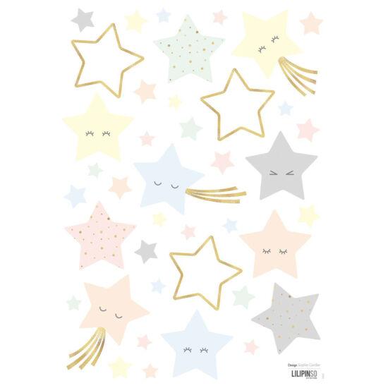 Pasztell csillagos falmatricák, Lilipinso