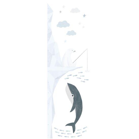 """""""Pecázó jegesmedve"""" nagy méretű magasságmérős falmatrica, Lilipinso"""