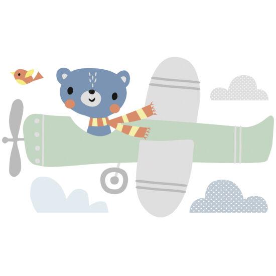 """Pilóta maci"" nagy méretű falmatrica, Lilipinso"