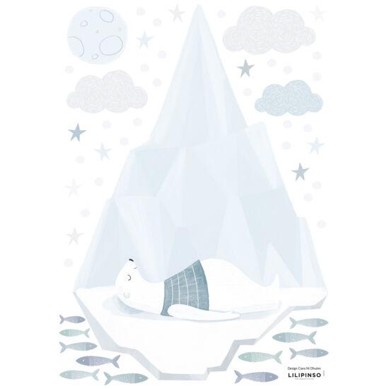 """""""Szundító jegesmedve"""" falmatrica, Lilipinso"""