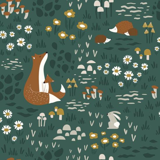 Erdei állatos tapéta gyerekszobába, Lilipinso