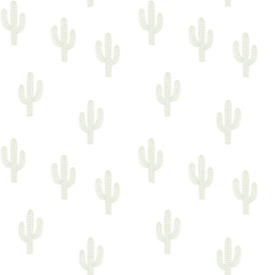 Zöld kaktuszos tapéta gyerekszobába, Lilipinso