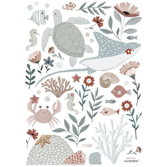 tengeri állatok falmatrica