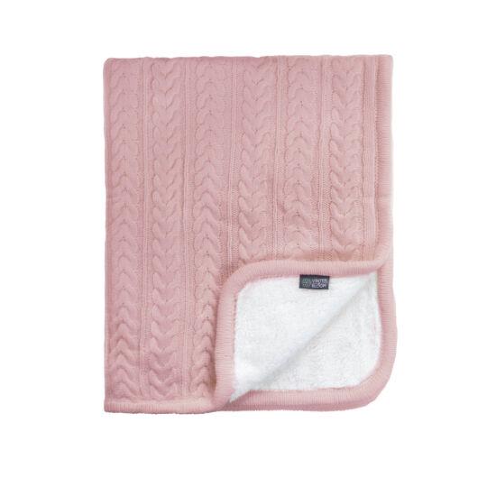 Kötött vastag wellsoft takaró (Cuddly), púder rózsaszín, Vinter&Bloom