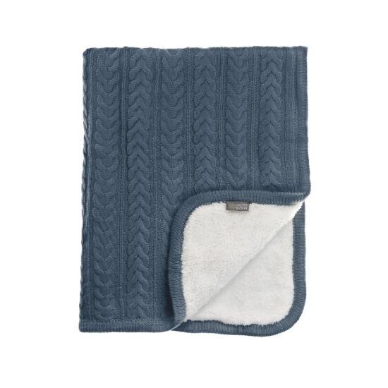 Kötött vastag wellsoft takaró (Cuddly), tenger kék, Vinter&Bloom