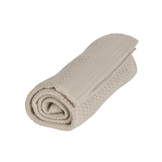 Organikus kötött takaró, homok színű, Vinter&Bloom