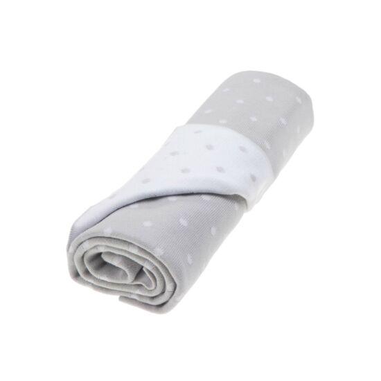 Szürke-fehér pöttyös kötött pamut babatakaró, Vinter&Bloom