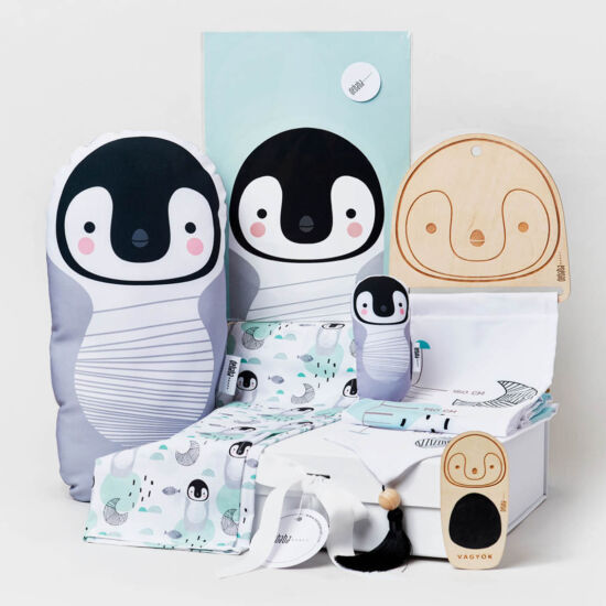 Pingvines babaváró csomag, debaba KRAFT