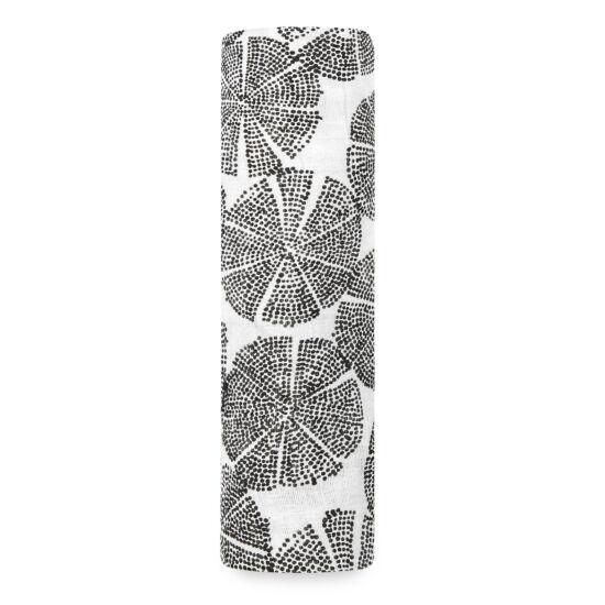 """""""Fekete-fehér bóbita"""" muszlin takaró (aden+anais)"""