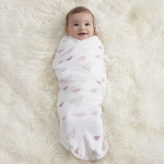 Rózsaszín-bézs muszlin takaró, 4-es csomag (aden+anais)