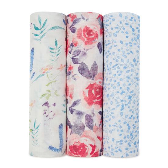"""""""Virágok"""" bambusz takaró, 3-as csomag (aden+anais)"""