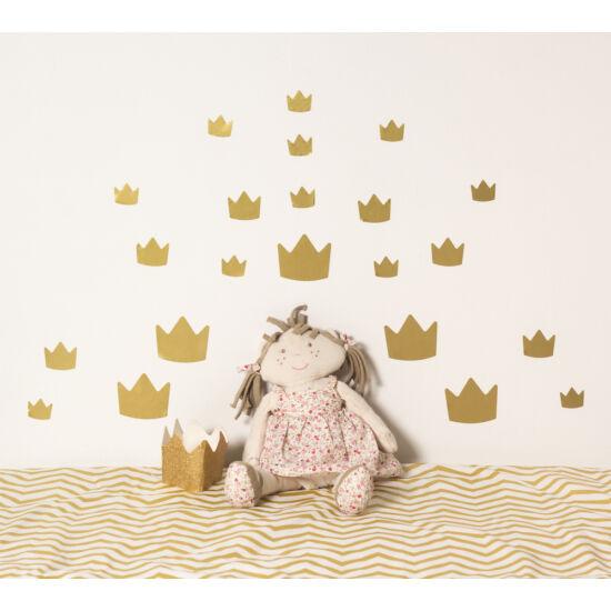 Arany koronás falmatricák