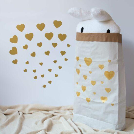 Arany szívecskés falmatricák