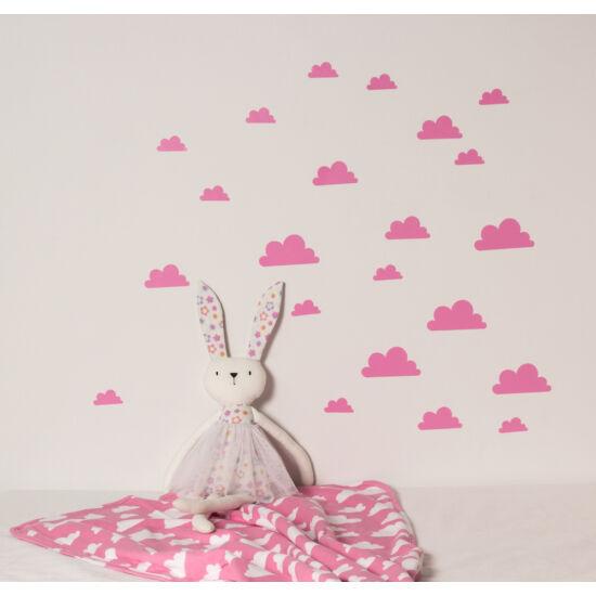 Rózsaszín felhős falmatricák