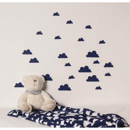 Sötétkék felhős falmatricák
