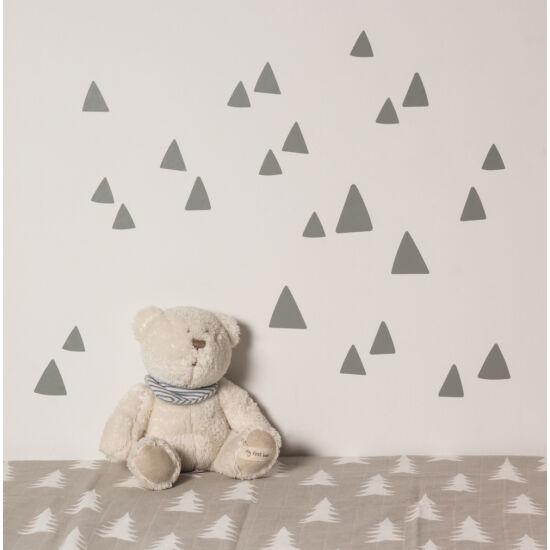 Szürke hegy / háromszög formájú falmatricák