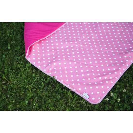 Pink csillagos 3 az 1-ben útravaló takaró + hátizsák
