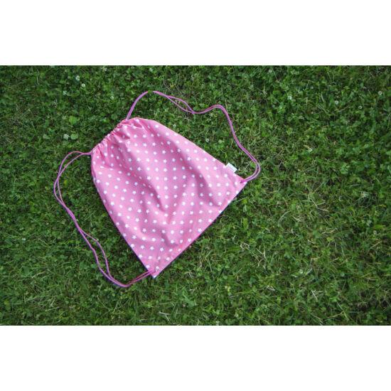 Pink csillagos útravaló hátizsák
