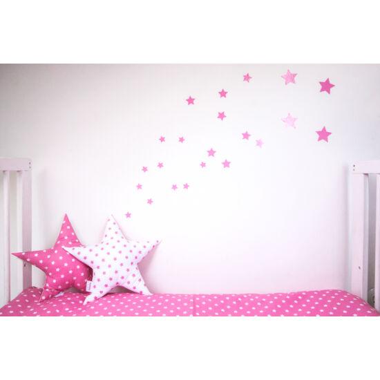 Pink csillagos falmatricák, babyberry