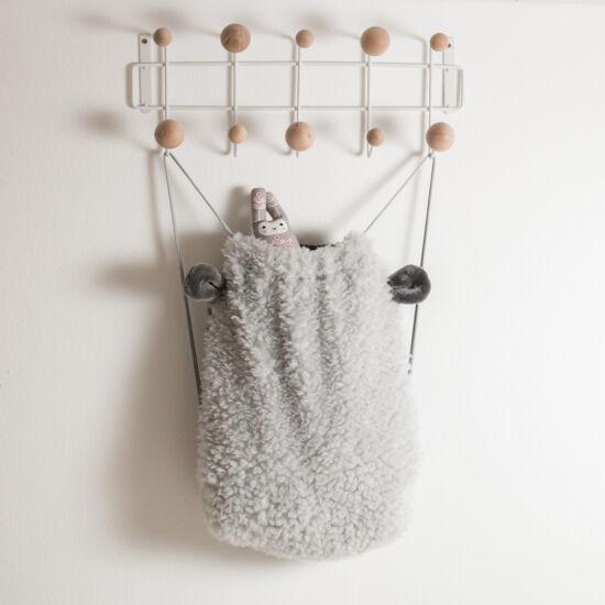 Szürke fülecskés gyerek hátizsák, (babyberry)