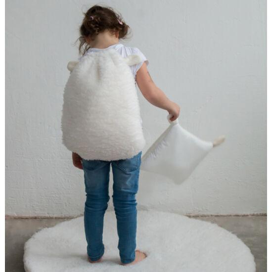 Fehér fülecskés gyerek hátizsák, (babyberry)