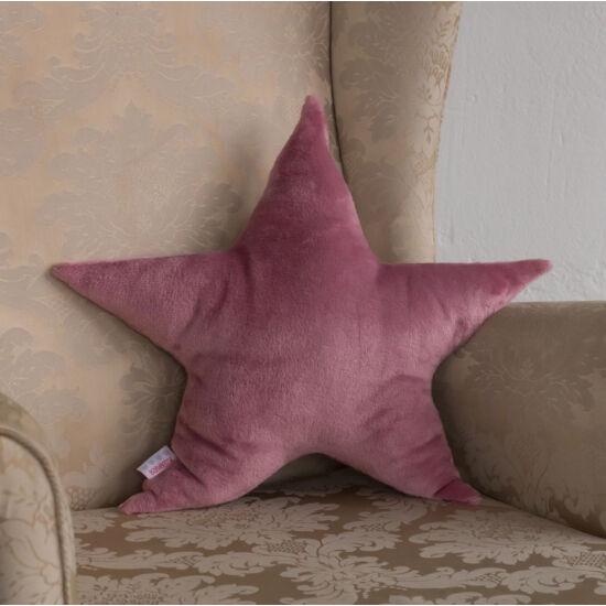 Mályva plüss csillag párna, (babyberry)