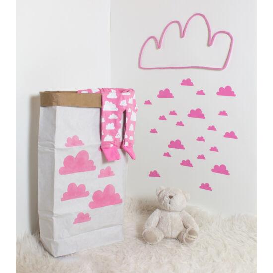 Rózsaszín felhős papírzsák