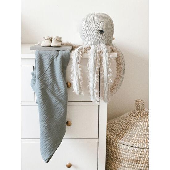 babyberry acélkék muszlin vékony takaró