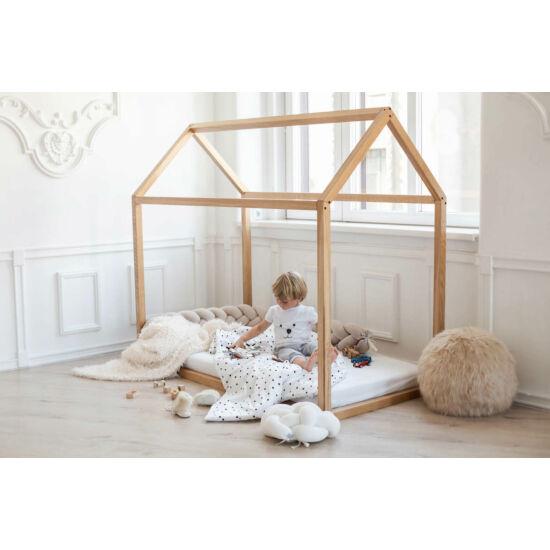 Házikó ágy natúr tölgyből (többféle méretben)