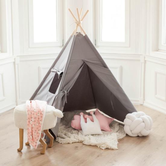 4 oldalú szürke indián sátor