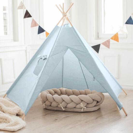 5 oldalú világos kék indián sátor