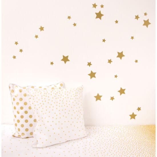 Arany csillagos falmatricák