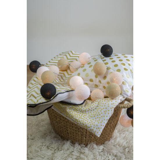 Arany-fekete gömblámpa füzér (Cotton Ball Lights)